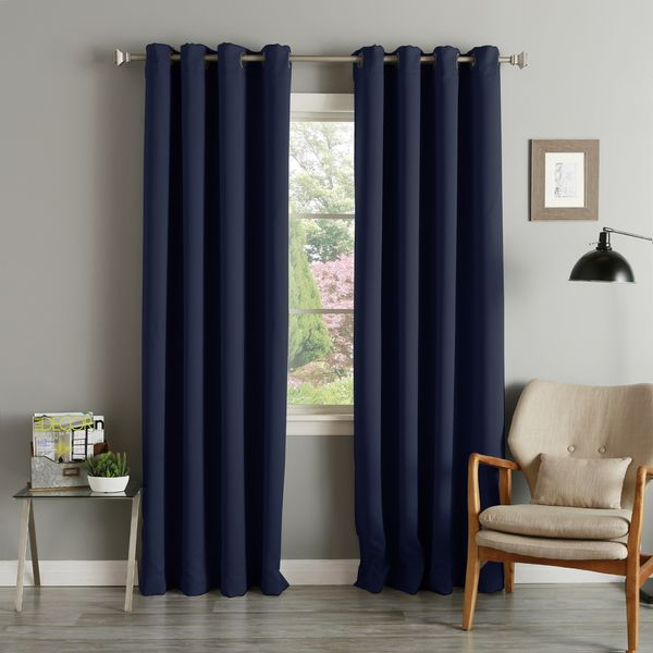 Aurora Home Grommet Top Thermal Insulated 96 Inch Blackout Curtain Panel Pair By Aurora Home