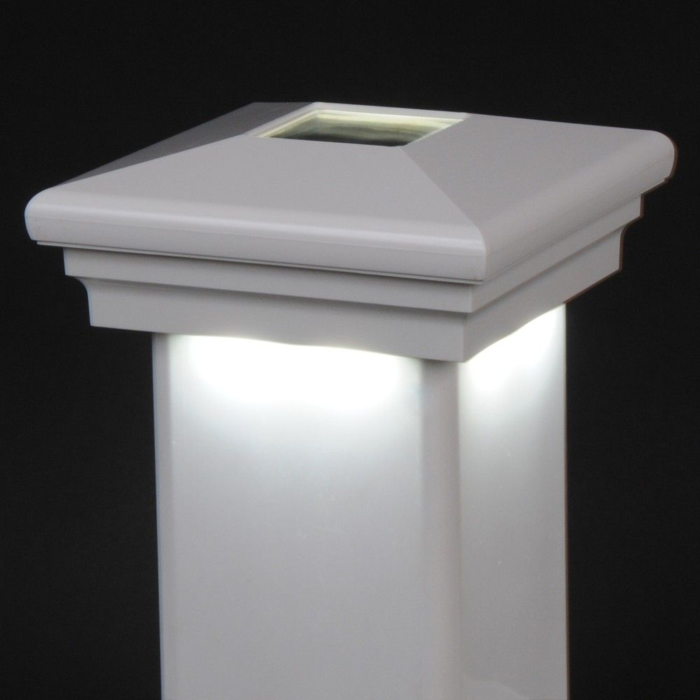 Neptune Downward Solar Post Cap Light by LMT Mercer