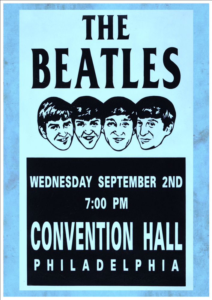 Vintage Look Reproduction 1963 The Beatles at the Odeon Metal Sign