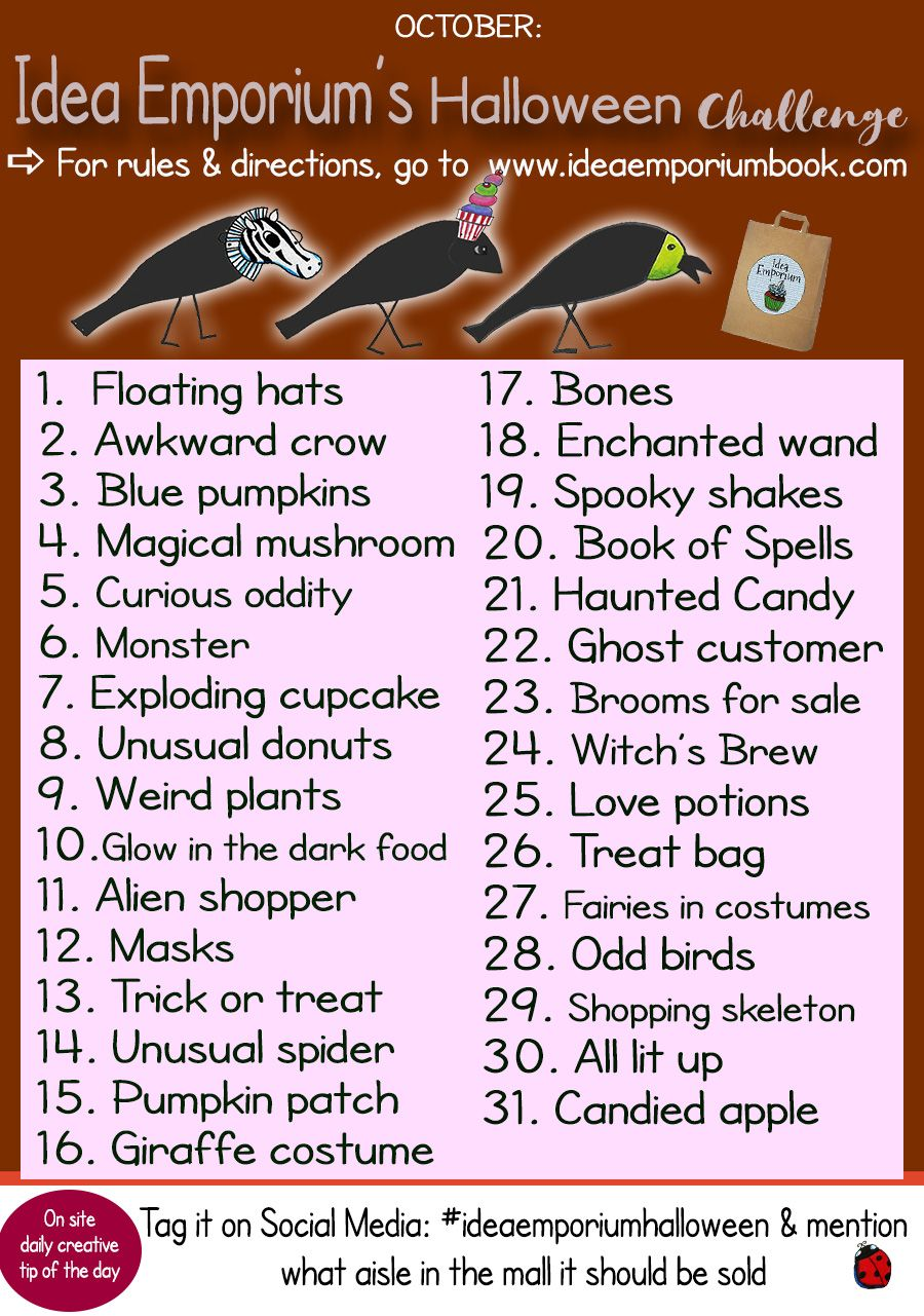 Join My Halloween Creativity Challenge 31 Prompts For The Month