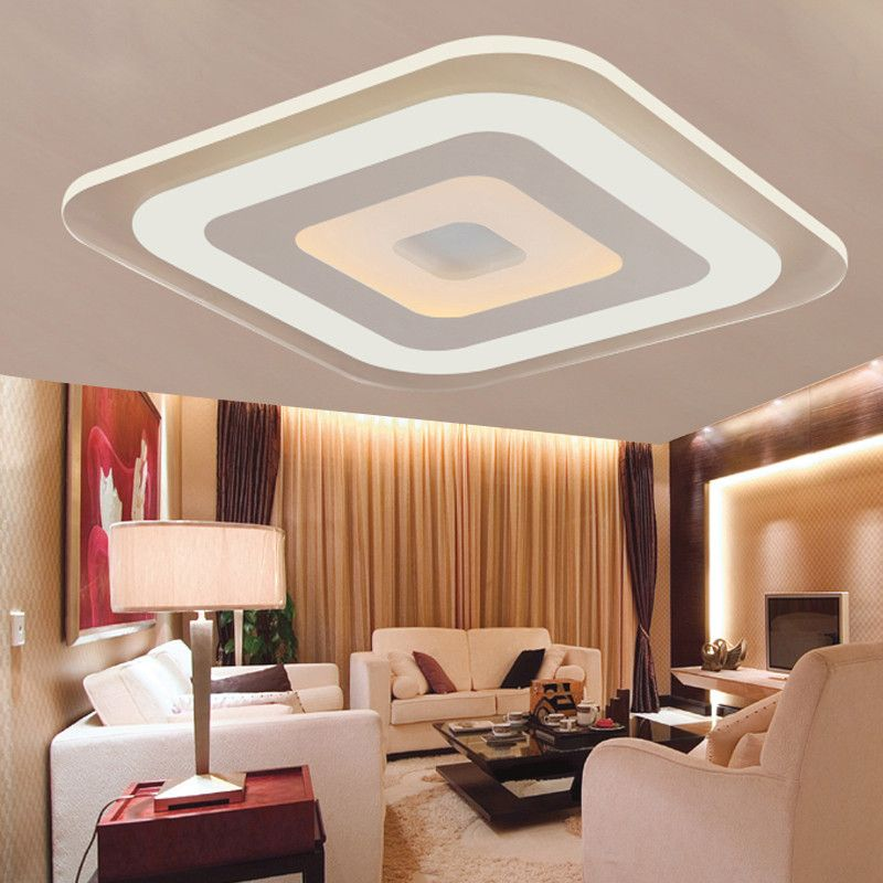 led ceiling light living room grey and blue modern acrylic fixture bedroom decorative lamp kitchen lightin item type lights style finish iron