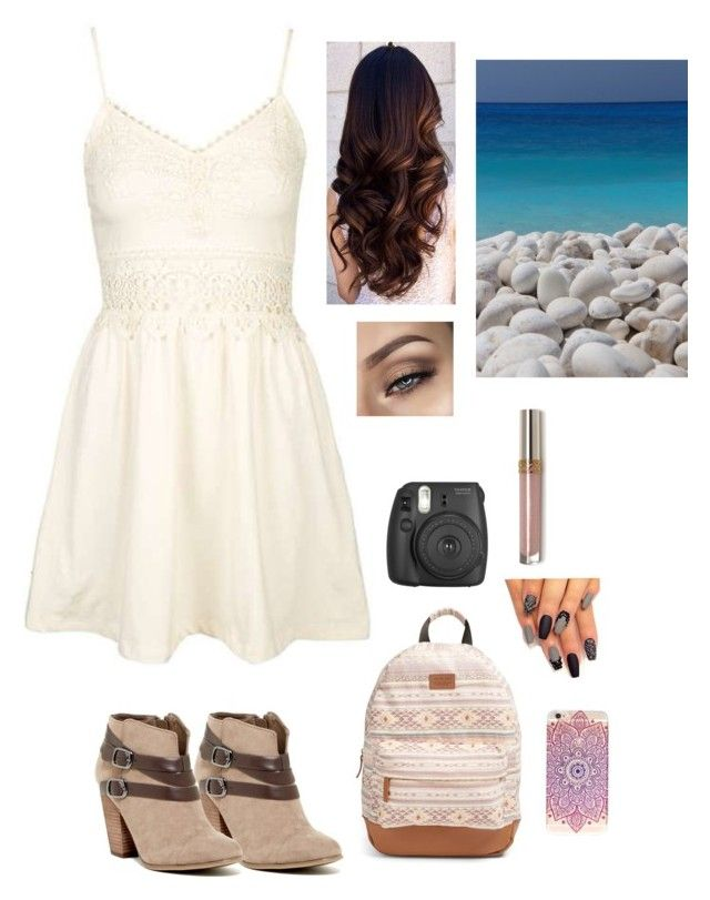 """""""Untitled #496"""" by cutegoth on Polyvore featuring Rip Curl, Carlos by Carlos Santana, Topshop and Fujifilm"""