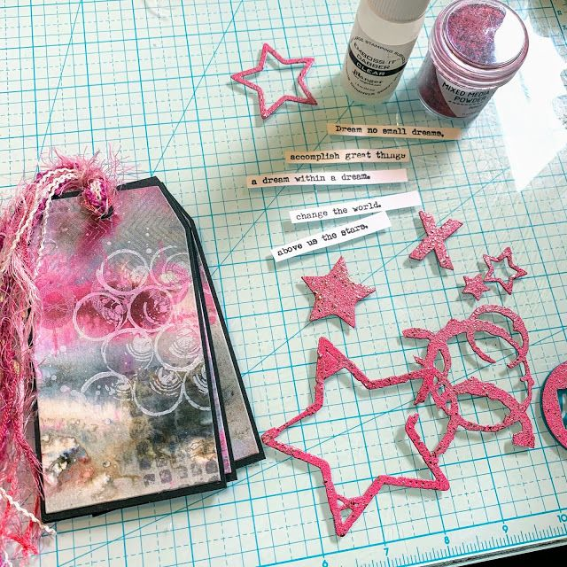 PaperArtsy 2020 5 Mark Making Infusions Tag Book with