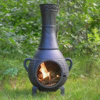 Pine Style Cast Aluminum Chiminea Outdoor Fireplace Chiminea Outdoor Fireplace Outdoor Heating