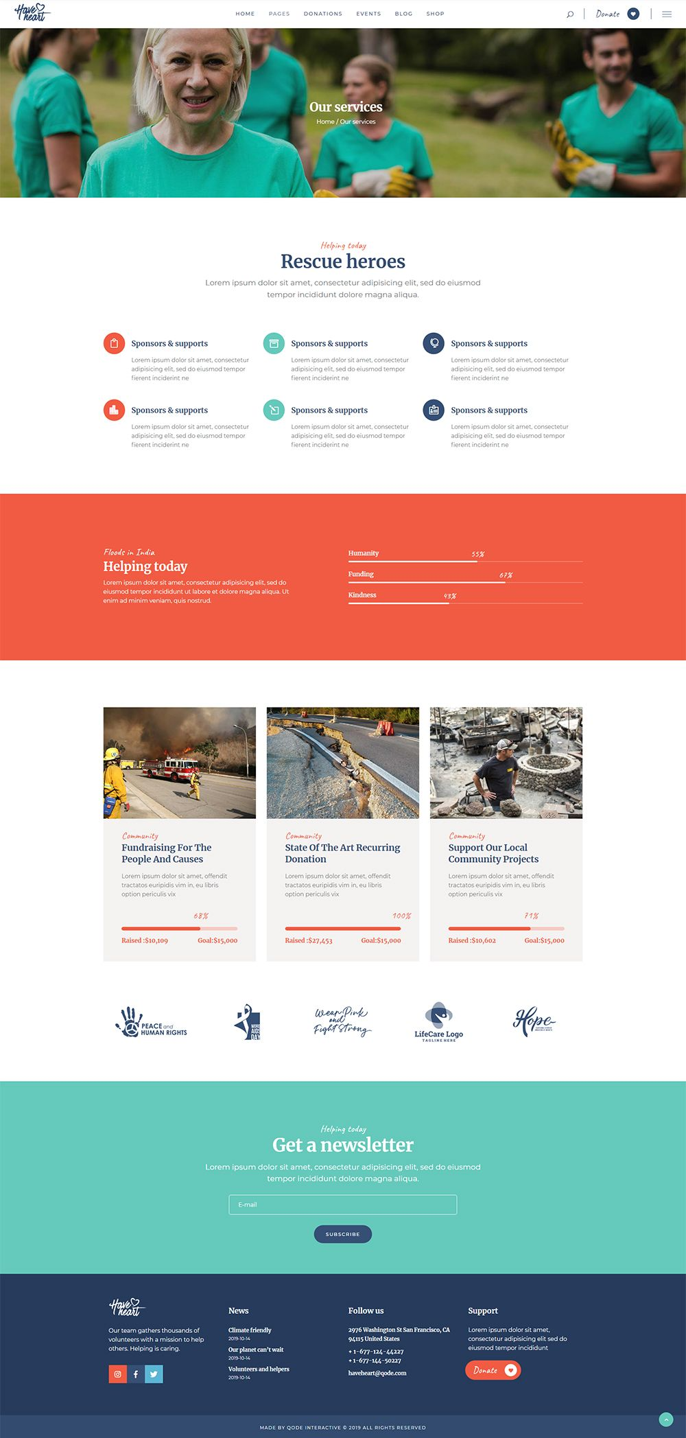 Haveheart Our Services In 2020 Nonprofit Website Design Nonprofit Website Wix Templates