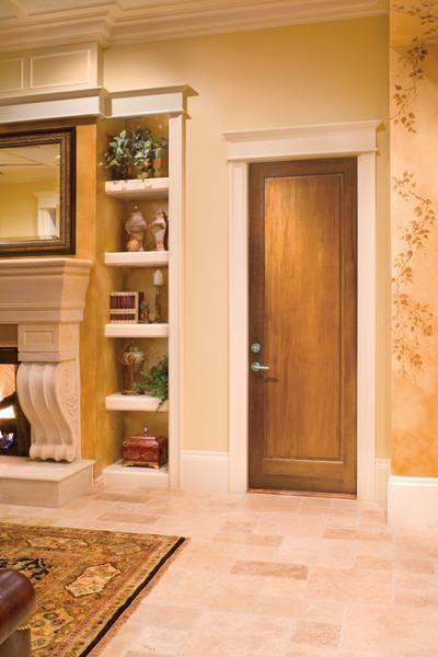 Jeld Wen Custom All Panel Alder Wood Interior Door Wheat Finish