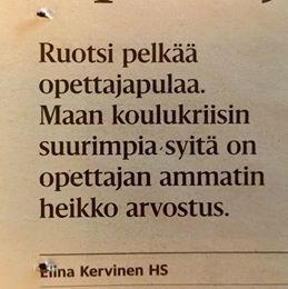 Helsingin sanomissa tänään, 17.4.2014