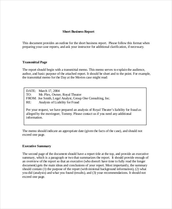 Business Report Example Check more at   cleverhippoorg
