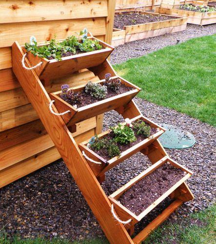 36 Inch Cedar Tiered Herb Garden Planters Gardening Window Box