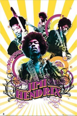 Jimi Hendrix Collage Plakaty Muzyczne Kreativ
