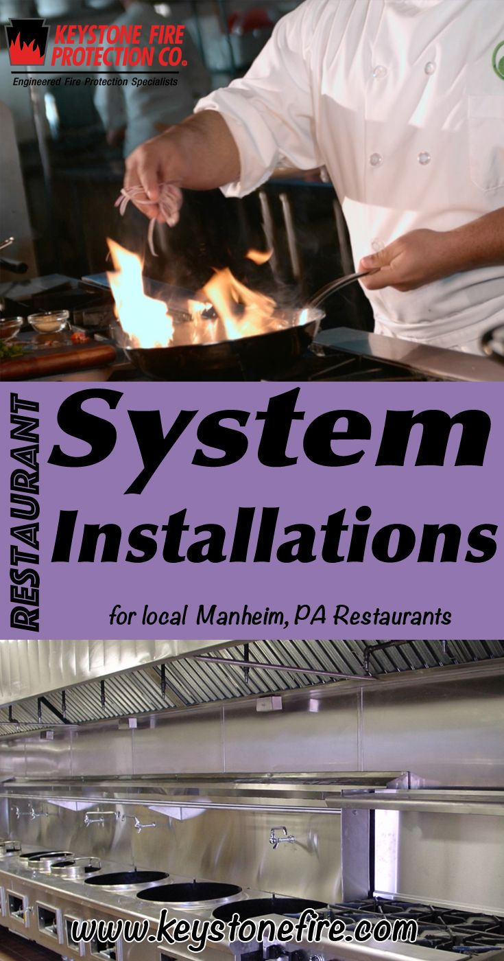 Restaurant Fire Suppression System Installations Manheim, PA (215) 641-0100 We're Keystone Fire Protection.. The Main Source for Restaurant System Service for Pennsylvania Restaurants. Call Today!  We would love to hear from you.