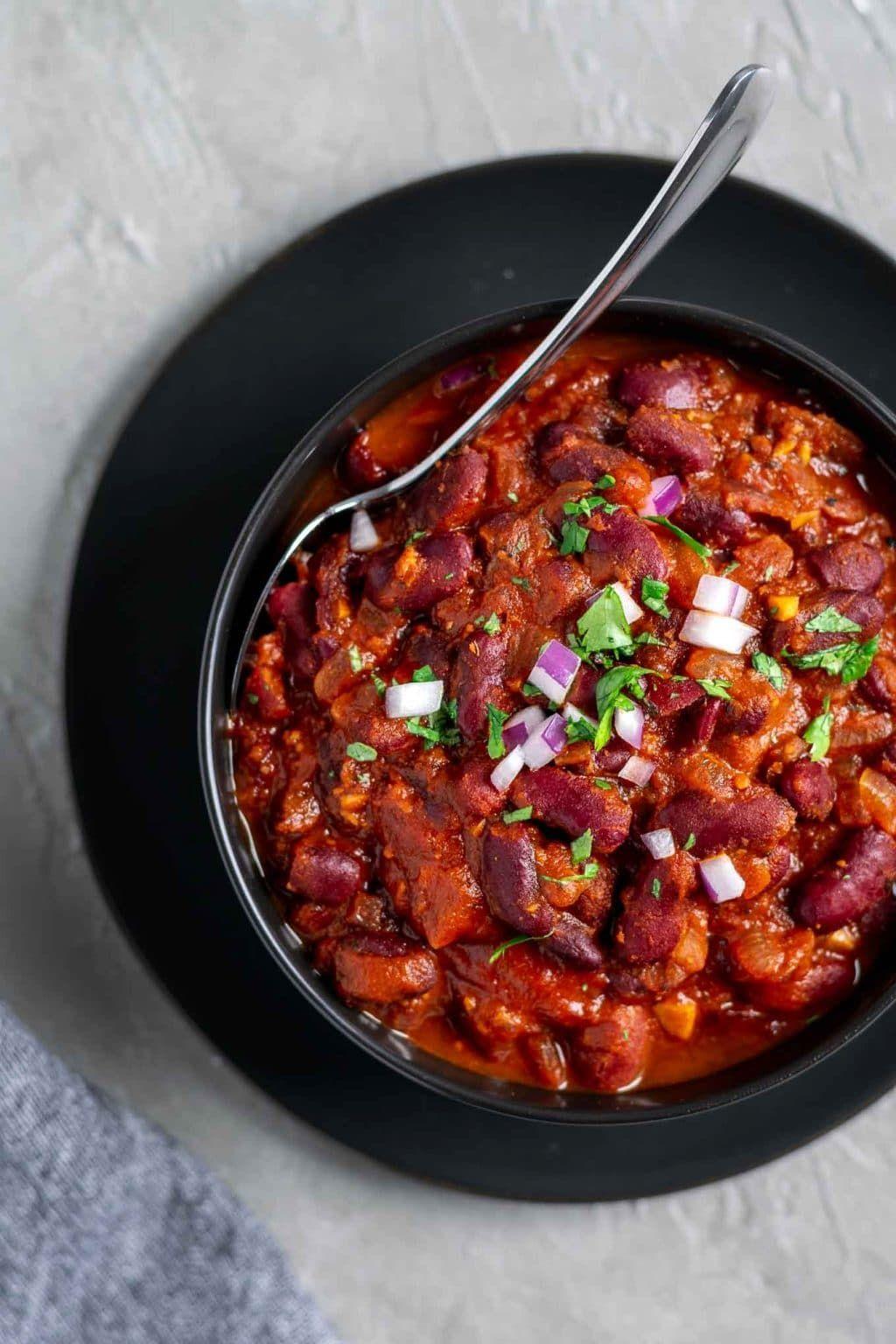 Afghan Kidney Bean Curry Lubya