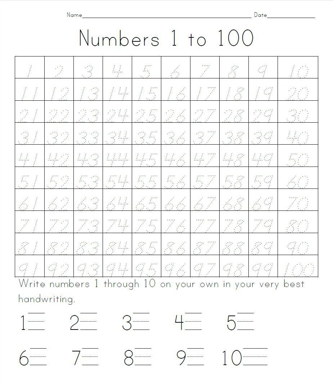 Practice Writing Numbers 1 100 practice writing numbers 1