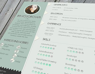 Check out new work on my @Behance portfolio  - where can i get a free resume template
