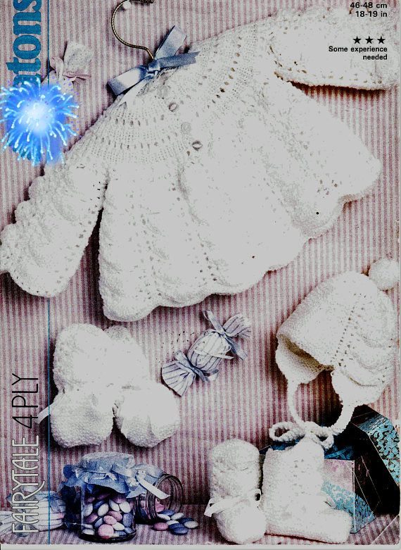 dfb86eb87a99 Vintage Baby Pattern -Knitted DK Dress