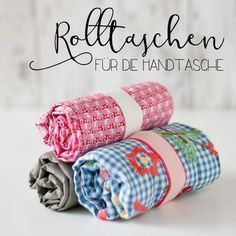 Photo of Fabric Crafts Sew a DIY Faltbeutel for the handbag easily. A great deal …