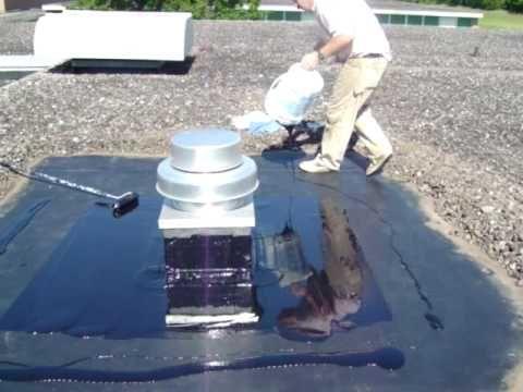 Application Of Liquid Rubber Www Grscanadainc Com General Roofing Systems Canada Grs Liquid Rubber Calgary Red Liquid Rubber Squeegees Rubber Roofing