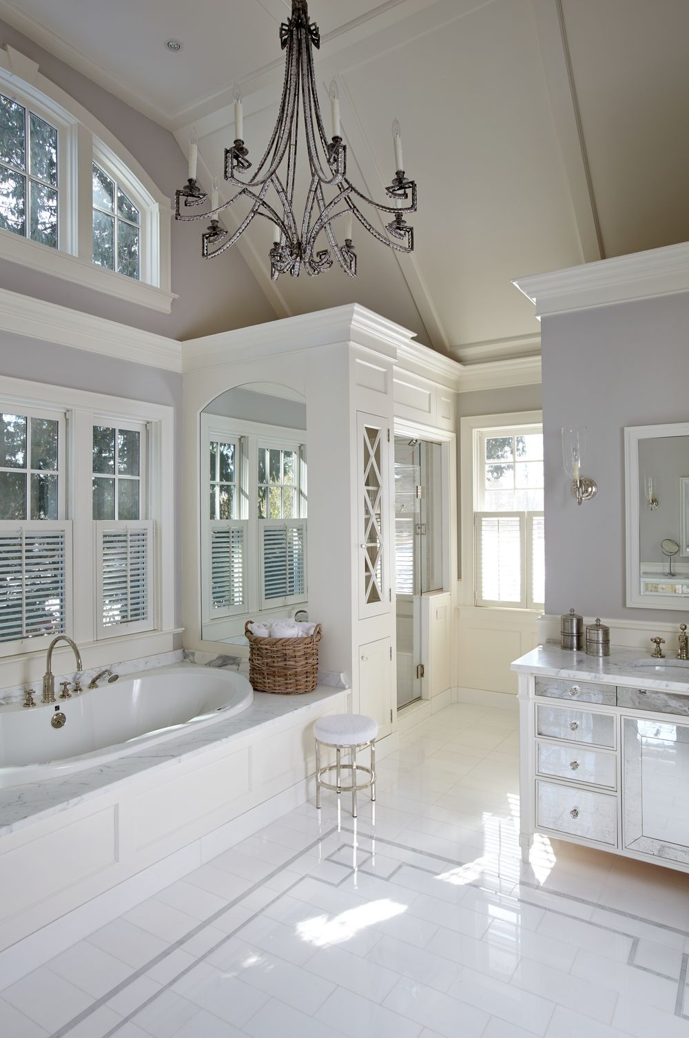 beautiful white bathrooms - 736×1108