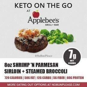 Keto Applebees Keto fast food, Keto restaurant, Keto on