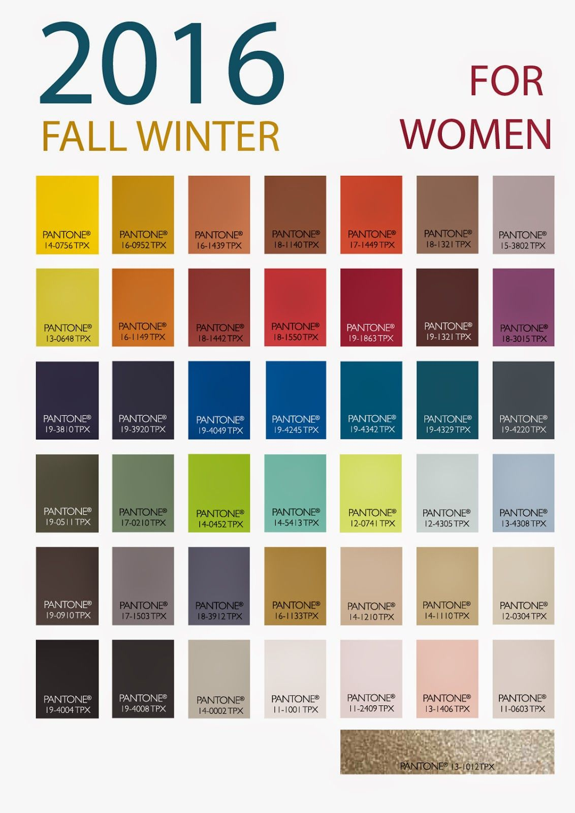 Patone 39 s winter 2016 women 39 s color forecast from store for Fall clothing colors 2016