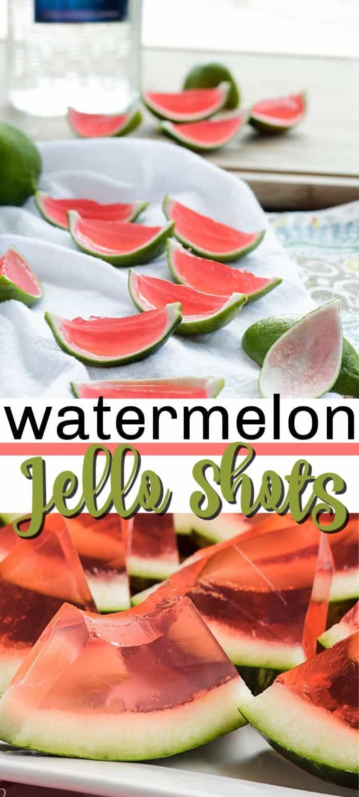 Watermelon Jello Shots- 2 different ways!