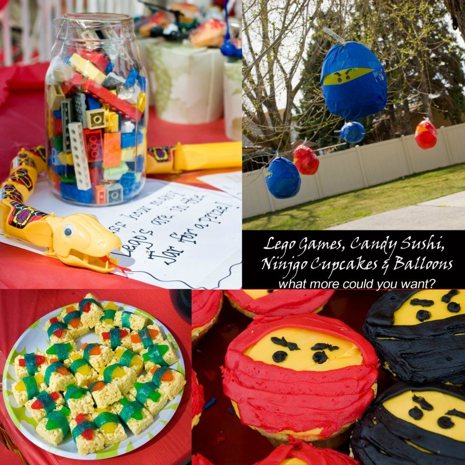 A Lego Ninjago Birthday Party: Toy Snakes As Favors Or Decorations