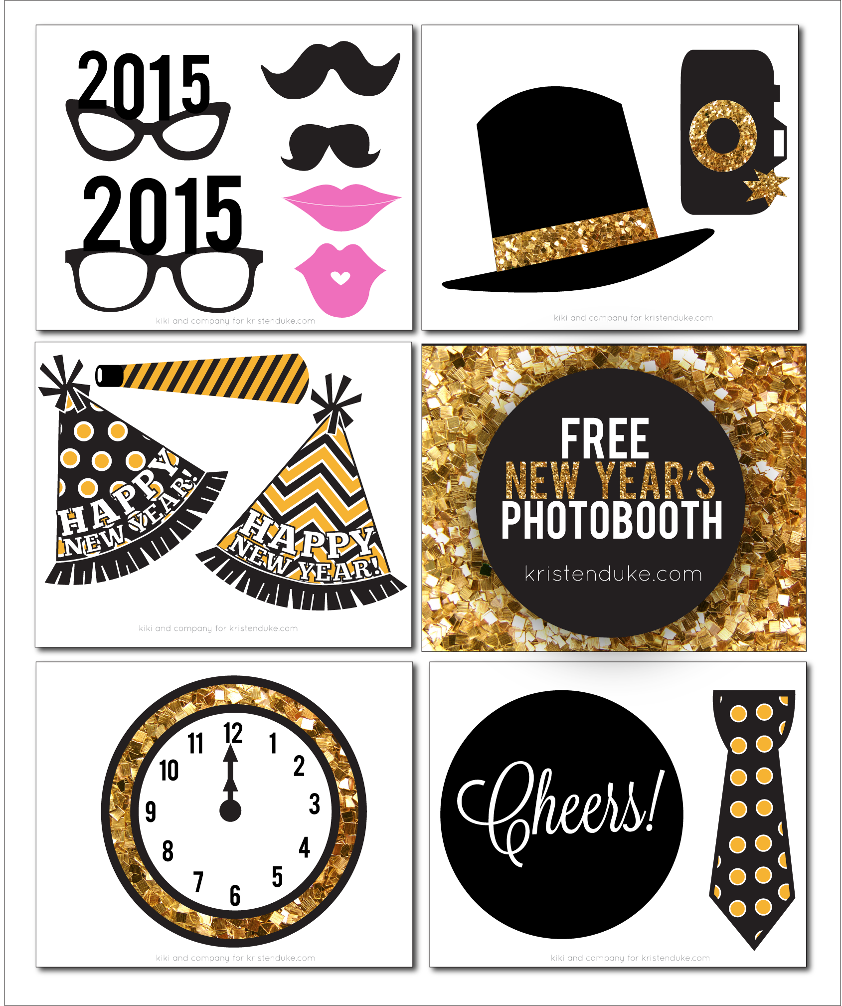 new years eve photo booth free printables