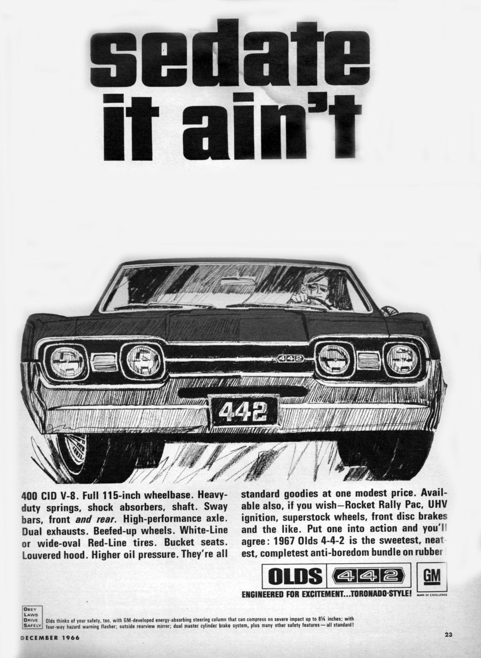 olds 442 ad 1966 67 [ 1575 x 2154 Pixel ]