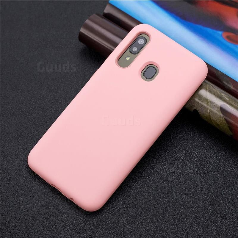 Matte PC + Silicone Shockproof Phone Back Cover Case for Samsung Galaxy A30 - Pink guuds.com wholesale dropshipping #guuds #samsung #Galaxy #S10 #S10Plus #S10e