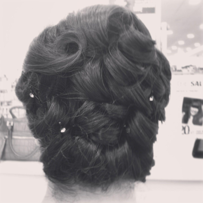 Hairstyle: Wedding up-do for medium length hair