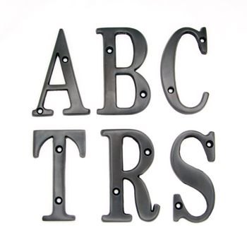 3 Inch Solid Br Dark Oil Rubbed Bronze Finish House Letters