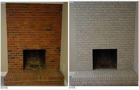 Made The Old Brick Hearth Shine Wow Brick Hearth Painted Brick Fireplaces Brick Fireplace