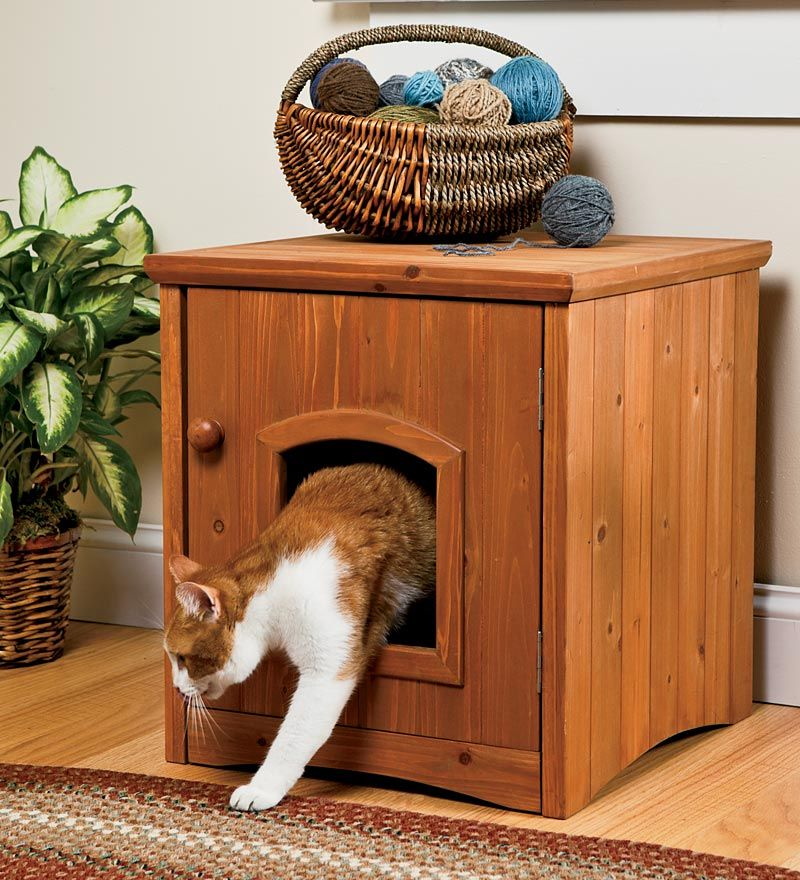 Use This Convenient Cabinet Style Cat Washroom With Door To Conceal Your  Catu0027s Litter Box. Home Design Ideas