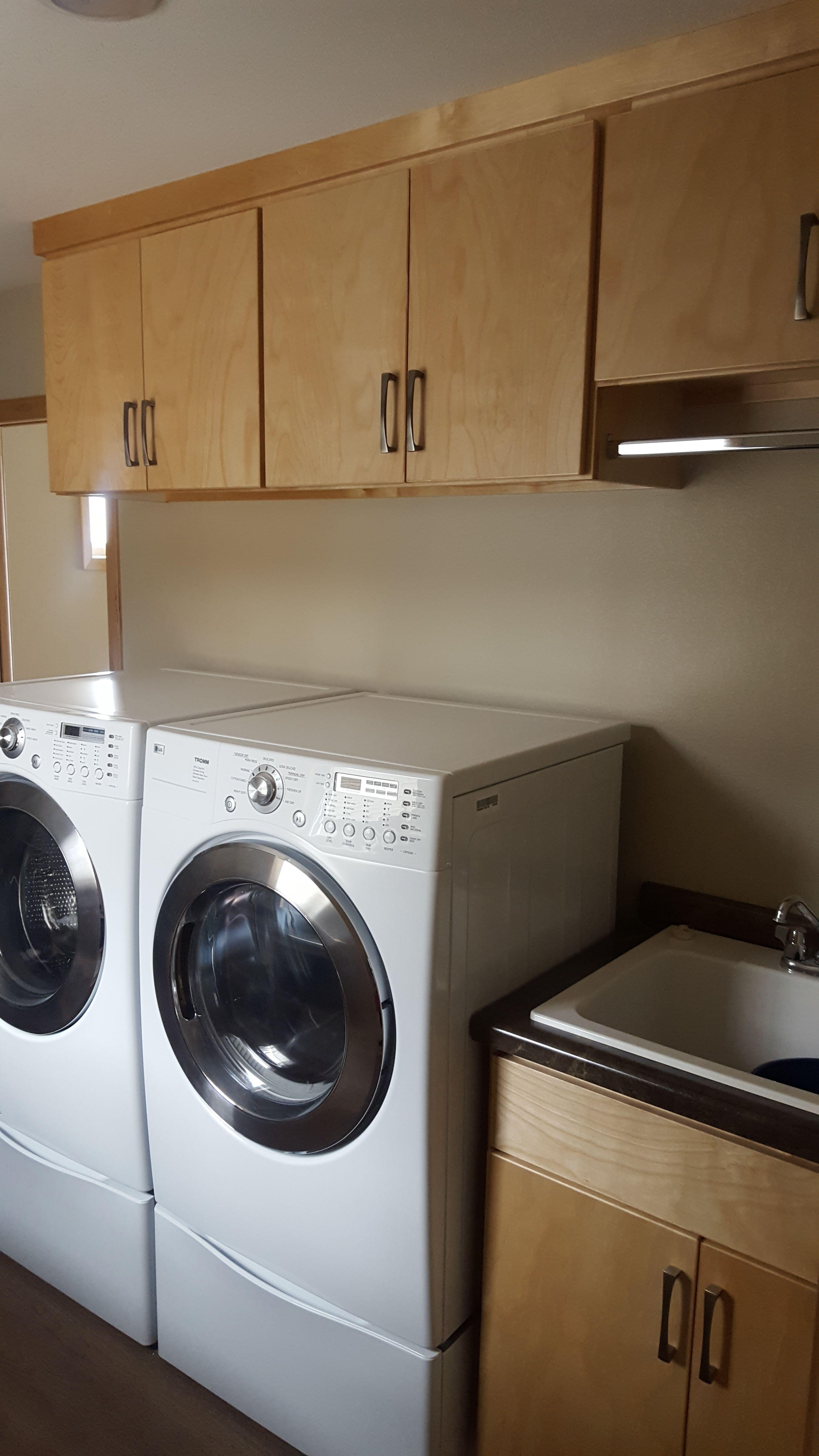 Birch Crest Cabin  Laundry Room Design