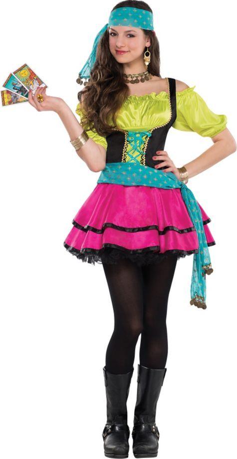 Teen Girls Mystical Gypsy Costume - Party City | Satin | Pinterest ...