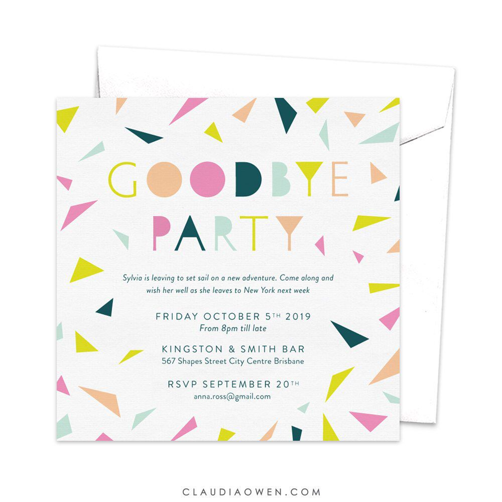 Goodbye Party Invitation Leaving Party Invitation Farewell Party