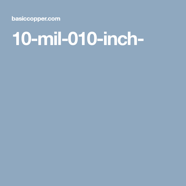 10 Mil 010 Inch Copper Sheets 10 Things Copper