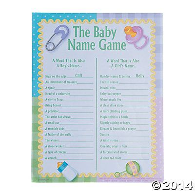 Photo of Baby Names Baby Shower Game#baby #game #names #shower