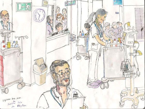 Hospital de dia by La Fando, via Behance