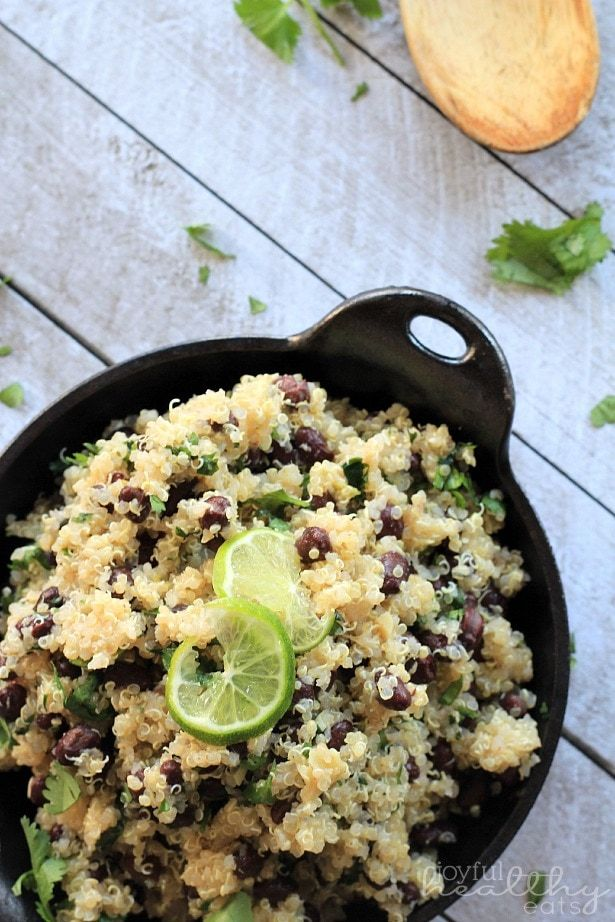 Photo of Cilantro Lime Quinoa with Black Beans | Healthy Mexican Side Dish