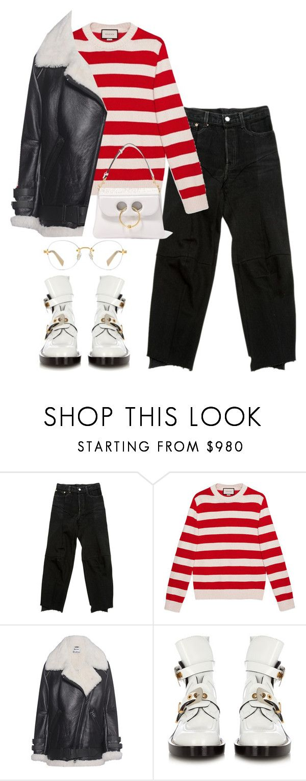"""""""Untitled #7047"""" by ijustlikefashionman ❤ liked on Polyvore featuring Gucci, Acne Studios, Balenciaga and J.W. Anderson"""