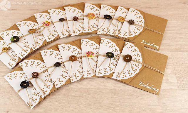 KreativOderPrimitiv.de Selber Basteln DIY Rustikal Vintage Einladung,  Hochzeitseinladung, Hochzeit,