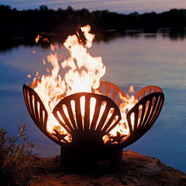 Thos Baker Shell Fire Pit 895 Liked On Polyvore Featuring