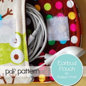 Download Earbud Pouch Sewing Pattern | FREE PATTERN CLUB | YouCanMakeThis.com