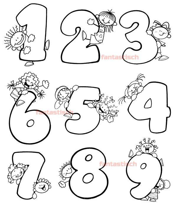 Учим и раскрашиваем цифры | Алфавит каллиграфия, Раскраски ...