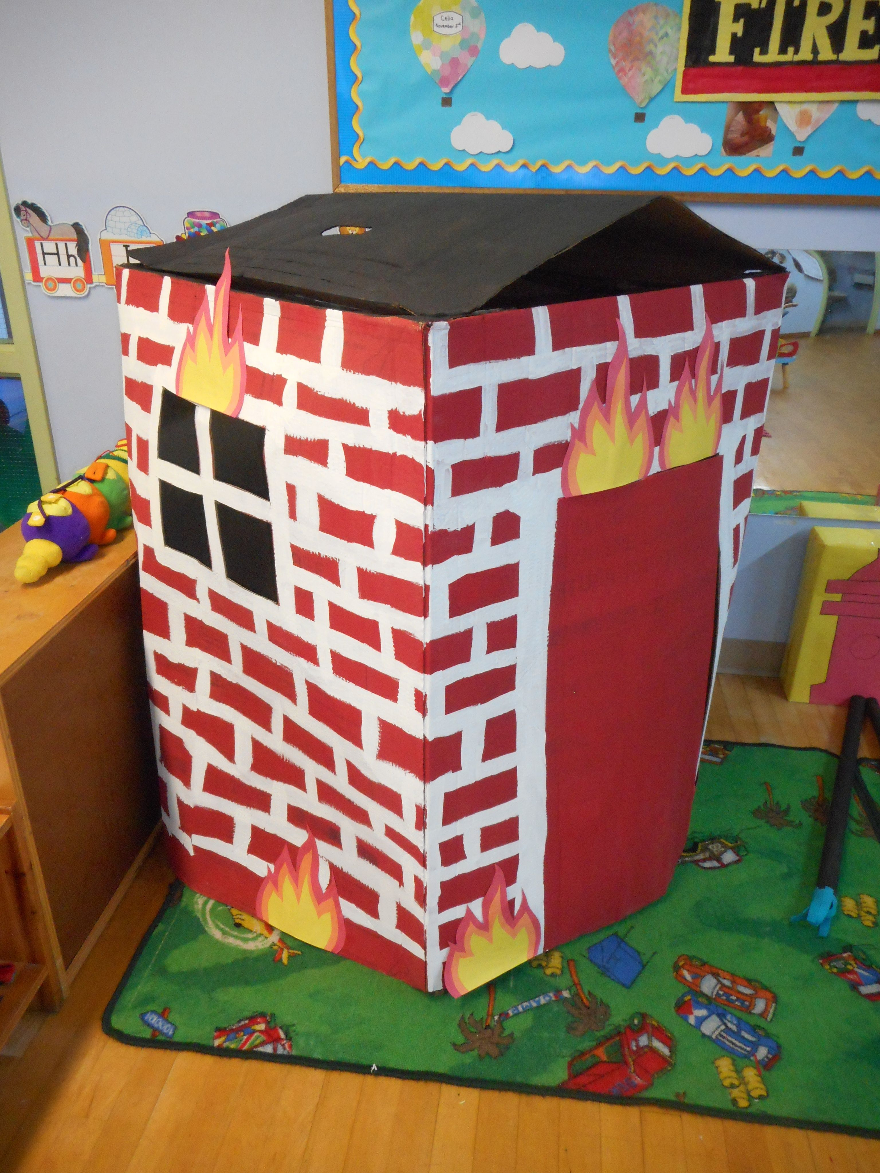 Fire Station Dramatic Play Diy Burning Building