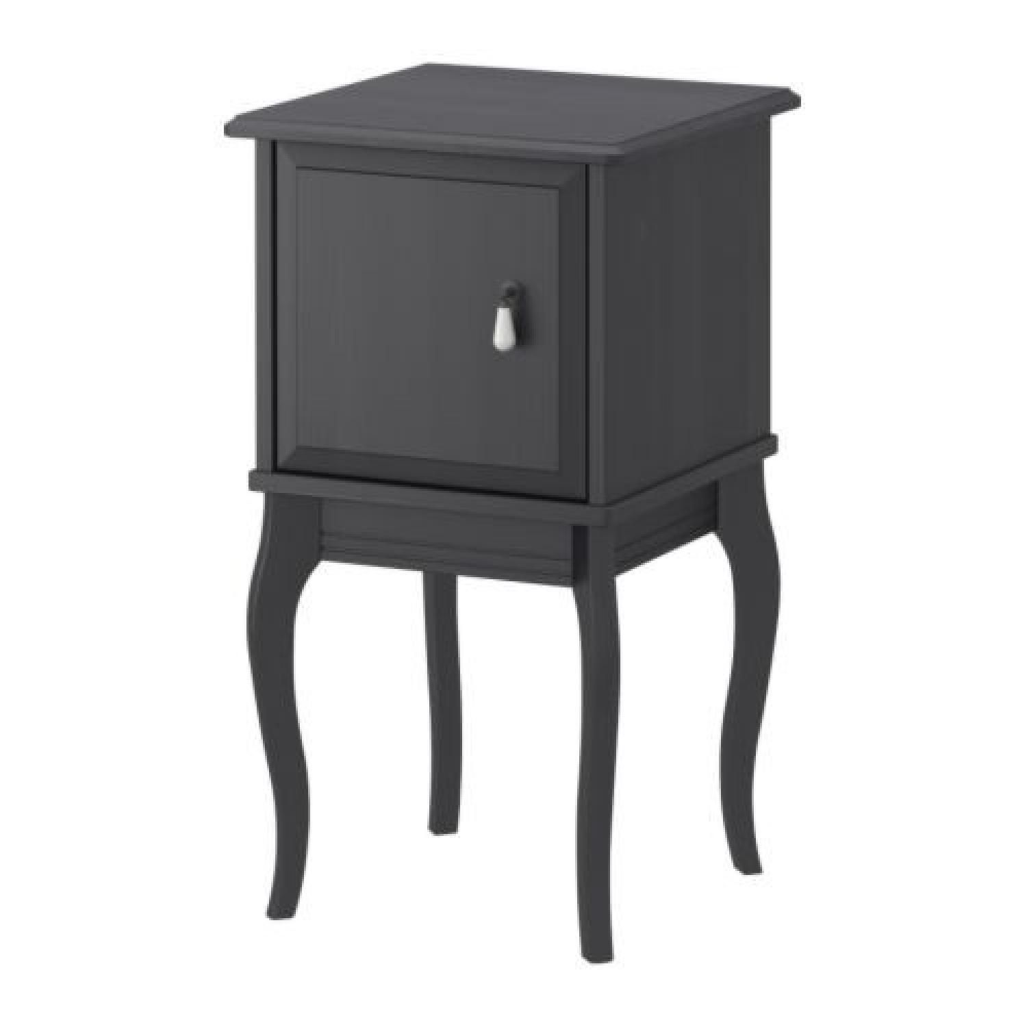 ikea edland grey side table nightstand your first apartment