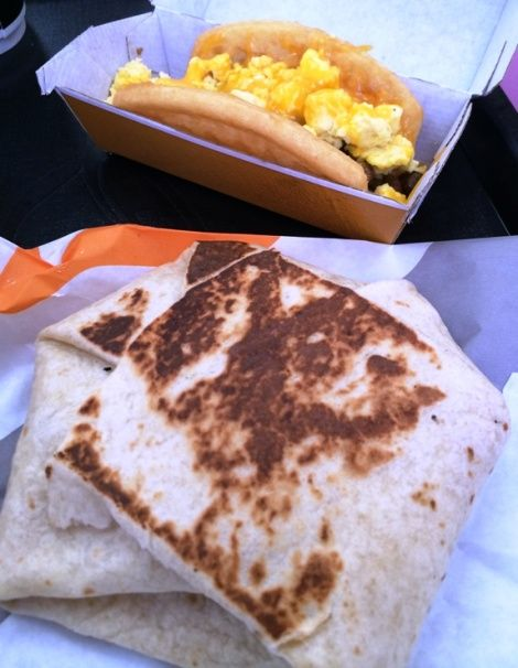 Waffle Taco and AM Crunchwrap at Taco Bell on Capital Boulevard, Raleigh- NC Triangle Dining