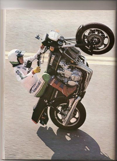 Doug Domokos The Wheelie King Kawasaki Z1300 Bikes Pinterest