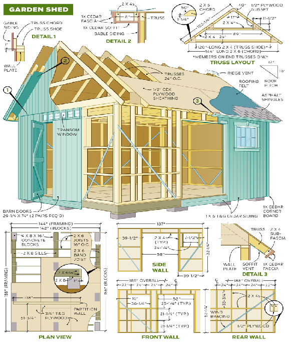 The Diy Garden Shed Plan Plans Design And Blueprints 12x12shedplan Small Shed Plans Diy Shed Plans Shed Plans